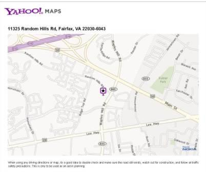 click image to get directions from yahoo maps